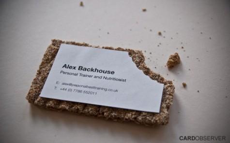 ejemplo de tarjeta de visita creativa y soporte