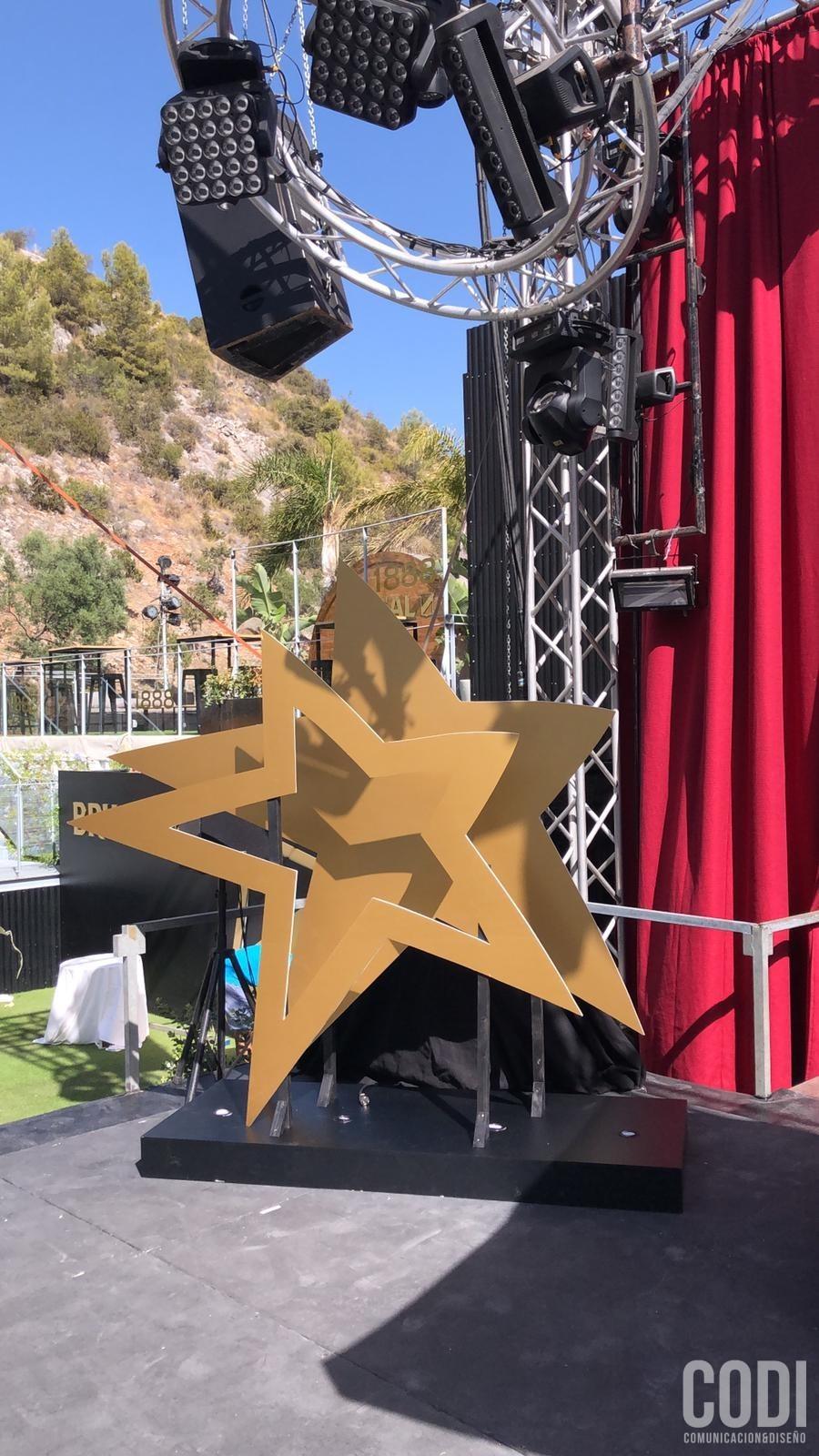 Figura decorativa del símbolo de Starlite