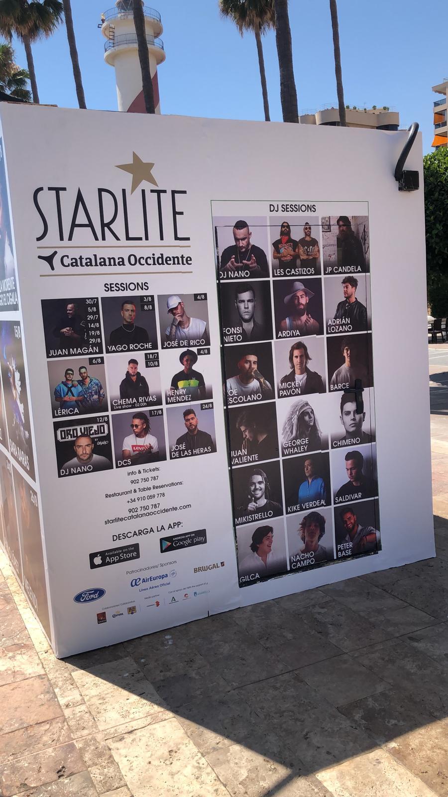 Lateral punto de venta de entradas de Starlite 2020