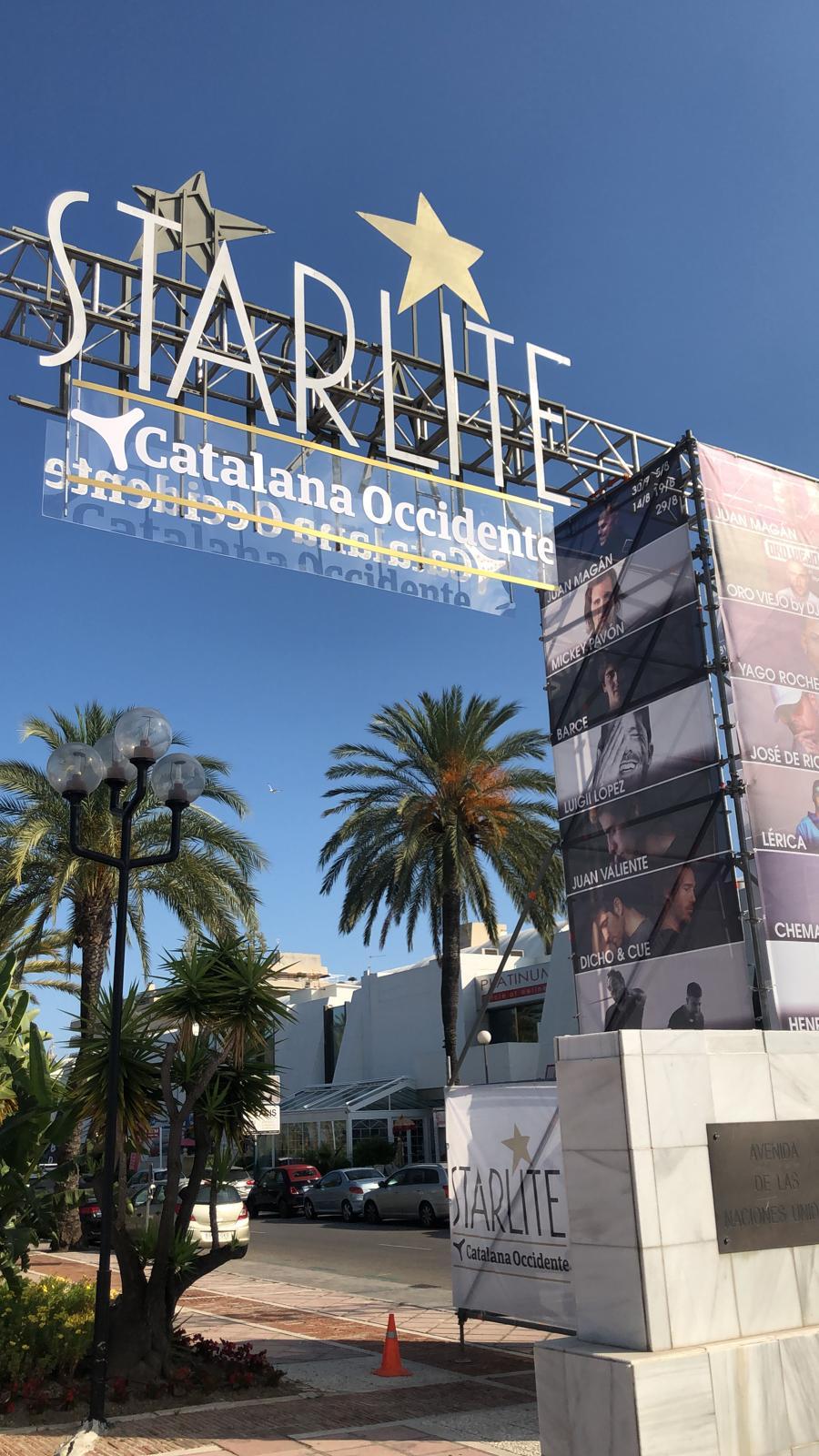 Entrada con logo Starlite 2020